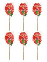 Mermaid Giant Lollipops x 6 Girls Party Bag Favour Lolly Pops Sweets