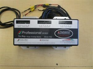 DUAL PRO PROFESSIONAL SERIES PS3 BATTERY CHARGER 3 BANK 9-25-15 MARINE BOAT