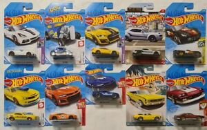 HOT WHEELS SET OF 10 MUSCLE FORD CHEVY DODGE 2021