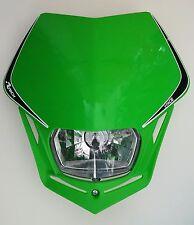 Mascherina Faro Anteriore Moto Rtech Headlight V-FACE Verde - Verde Universale