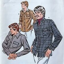 * Vintage 1023 Kwik Mens Skirt or Jacket Shirt Pattern sz 34-40  UNCUT