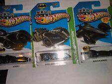 * BATMAN LOT  2013 Hot Wheels Classic TV Series #61 BATMOBILE,63 ARKHAM,65 BATMA