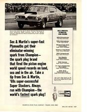 1969 HEMI BARRACUDA PRO STOCK / SOX & MARTIN ~ ORIGINAL CHAMPION AD