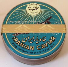 250g original echter Beluga Caviar (Huso huso) Kaviar +4 Perlmutt-Löffel