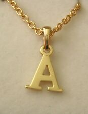 GENUINE 9K  9ct  SOLID  GOLD  INITIAL  A  LETTER  ALPHABET PENDANT