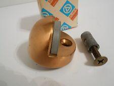 """Brass Half Dome Door Stop 1 3/8"""" tall Baldwin New"""