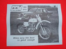 CCM • NOS OEM Clews 1976 US Sales Literature Brochure 500 580 600 MX BSA B50