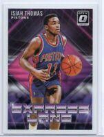 2018 Panini Donruss Express Lane #2 Isiah Thomas Detroit Pistons Basketball Card
