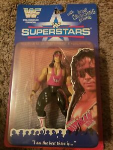 BRET HART ACTION FIGURE SUPERSTARS BONE CRUNCHING SOUND SERIES 2 WWF WWE HITMAN