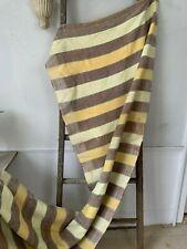 Vintage hand loomed rag rug stair runner fabric 10.66 yards 34 WIDE Yellow brown