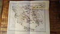Early French Map/Greece & Part of Asia Minor - G. Benard, Circa 1801