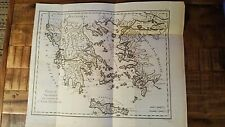 Early French Map/Greece & Part of Asia Minor - G. Benard, Circa 1801