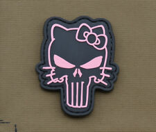 """PVC / Rubber Patch """"Pink Kitty Punisher"""" with VELCRO® brand hook"""