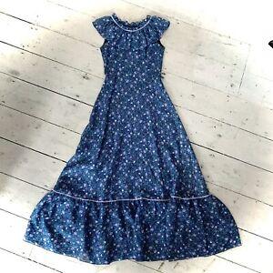 Vintage 1970's Boho Tiered Maxi Dress Size 6/8