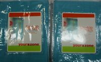"""Your Zone Pair Tie-Top Curtains Each 59"""" X 84"""" Blue (Rod Not Included)"""