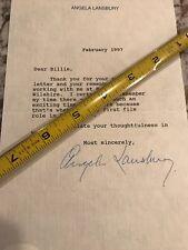 Angela Lansbury Autograph SIGNED JSA COA Letter