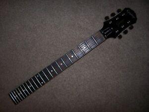 Used, Fully Loaded! Epiphone Les Paul Junior Model Neck - Black Gloss Finish