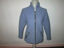 Women's Ibex Cornflower Blue Boiled Wool Full-Zip Jacket Size S *Made In The Usa