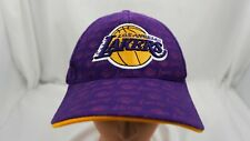 Los Angeles Lakers Hat Purple Stitched Adjustable Baseball Cap Pre-Owned ST204