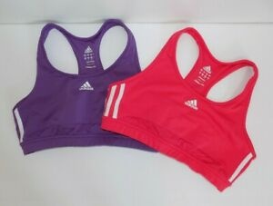 Adidas size large lot of 2 pink & purple sports bra- great!