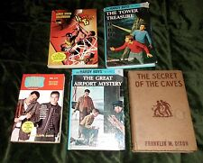 Lot of 5 Hardy Boys Detective Stories Old and modern Franklin W. Dixon