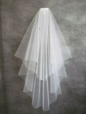 2 Tier White/Ivory Wedding Bridal Elbow Short Length Veil With Comb
