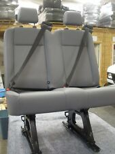 "Ford Transit OEM Seat; Pewter Vinyl; 36"" Dual Pass; w/Hardware; Slight Blemish"