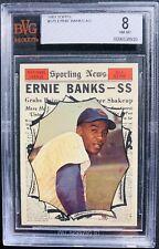 1961 Topps #575 Ernie Banks all star Bvg 8 Psa Crossover?