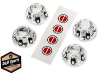 Traxxas 8176 Center Caps Wheel Chrome (4) / Decal Sheet: TRX-4 Ford Bronco