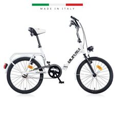 BICI 20 PIEGHEVOLE FOLDING CAR BIKE 1 SPEED AURELIA 321 BIANCO MADE IN ITALY