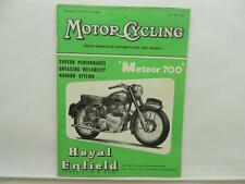July 1954 MOTORCYCLING Magazine Royal Enfield Meteor 700 L8655