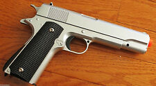 M1911 Replica Handgun Full Metal Silver Airsoft Pistol with 6mm BBs