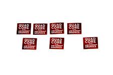 AMD Radeon Graphics Quad Core Sticker 7x Stück pcs Aufkleber Laptop Label logo