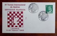 THEME DES ECHECS : ESPAGNE 1983 IVème TOURNOI INTERNATIONAL A LINARES  - TBE
