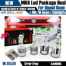 VW GOLF MK6 LED H7 H15 HEADLIGHT BULBS PACKAGE DRL HIGH BEAM FLASH SIDE LIGHTS