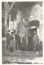 D0339 Suocera benedice la nuora - Stampa antica del 1928 - Old Print