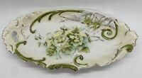 Antique German Porcelain Oblong Bon Bon Relish Dish Plate