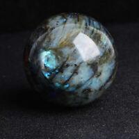 40MM Natural Labradorite Quartz Crystal Sphere Ball Healing Gemstone Gift Reiki