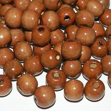 WL664L2 Brown 14mm Round Rondelle Wood Beads 4oz Package (120/pkg)