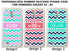 Personalized PINK MINT NAVY ORANGE CHEVRON CUSTOM Case For Samsung GALAXY S6 S7