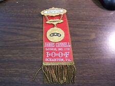 ANTIQUE - I.O.O.F. JAMES CONNELL LODGE 170 - SCRANTON PA - BADGE / PIN - EXCELLE