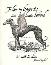 Victorian Greyhound Dog Sympathy Cards, set of 4, with envelopes