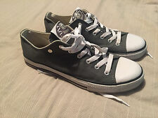 Dunlop Green Flash Shoe Company Grey Canvas Pumps Trainers Size 8 Great Cond