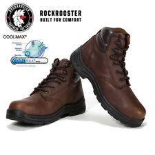 ROCKROOSTER Men's Work Boots Composite Toe Safety Waterproof Leather Boots Comfy