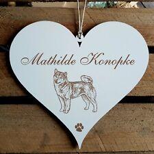 Personalisiertes Schild Herz « SHIBA INU » Name Türschild Hund Hunde Dekoration