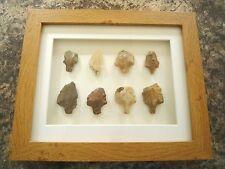 Paléolithique pointes de flèches en 3D Cadre photo, Authentique Artifacts 70,000BC (V017)