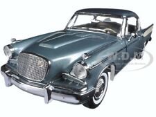 1957 STUDEBAKER GOLDEN HAWK WOODSMOKE GRAY 1/18 DIECAST MODEL BY SUNSTAR 6151