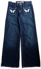 Kids Gap Girls Blue Denim Flares Floral Jeans Flared Trousers 5-16y 5 Years