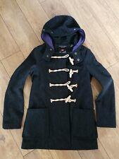 The Original GLOVERALL Black Duffle Coat Size 30-read