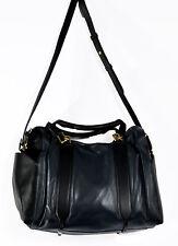Nina Ricci Women's Cite Genuine Leather Satchel Shoulder Bag Handbag Bluish Grey
